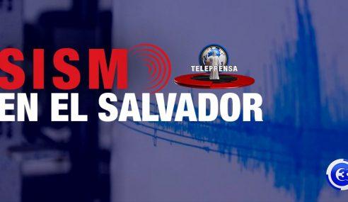 Sismo de 6.8 sacude territorio salvadoreño