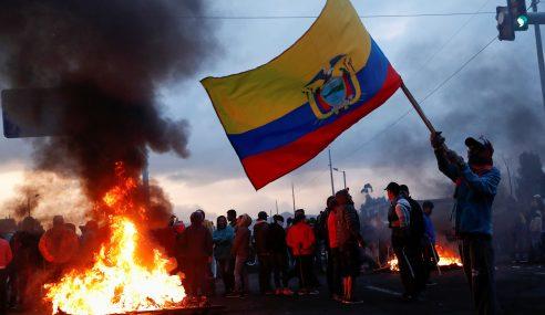 Se agudizan protestas contra Lenín Moreno en Ecuador