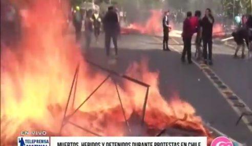 Muertos, heridos y detenidos durante protestas en Chile