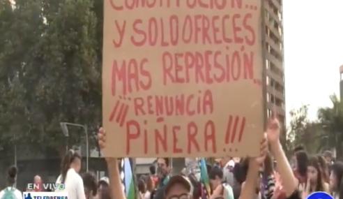 Congreso chileno aprueba plebiscito para nueva constitución