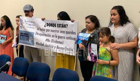 Organizaciones de familiares de víctimas de desaparición forzada exigen compromisos de parte del Gobierno