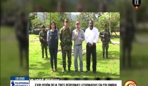 Explosión deja tres personas lesionadas en Colombia