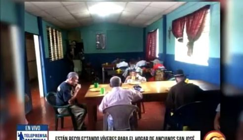 Están recolectando vivires para el hogar de ancianos San José