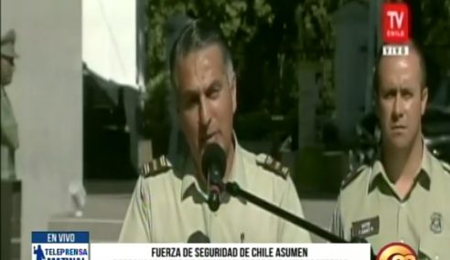 Fuerzas de seguridad de Chile asumen responsabilidad de actos violentos durante protestas