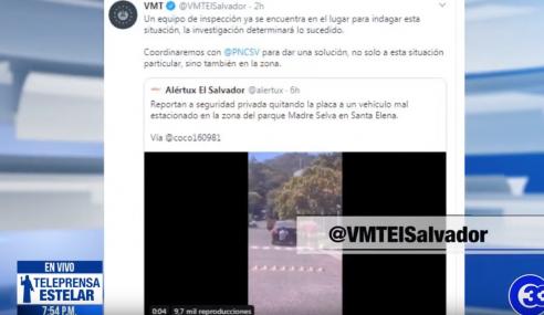 VMT investigará a vigilante por quitar placas