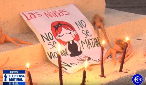 Feministas repudian asesinato de niña mexicana